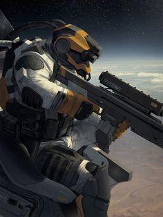 Bildergebnis für chibi scifi soldier