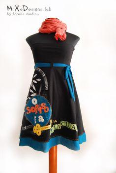 Falda-Vestido-Capa Sorriso e a Chave- Talla / MiXeDesigns lab - @Artesanio