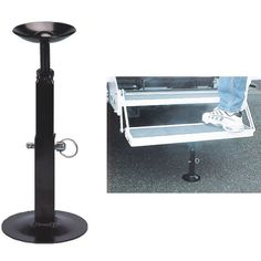 Does your RV rock when someone enters the door? RV Step Stabilizer provides stability and firmness.