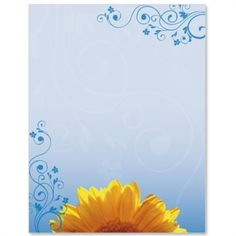 Sunny Day Light Border Papers | PaperDirect