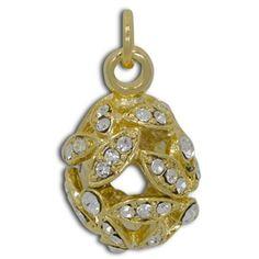 Crystal Leaves Egg Pendant Faberge