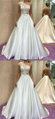 Gorgeous One Shoulder Long Ivory Prom Dress, Elegant Formal Evening Gown ,Ivory Prom Gown on Luulla Ivory Prom Dresses, Evening Dresses With Sleeves, Long Prom Gowns, Evening Gowns, Wedding Dresses, Ivory Wedding, Luulla Dresses, Bridesmade Dresses, Homecoming Dresses