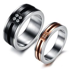 601f091868 Details about R127 Titanium Steel+Crystal Promise Ring Lovers Wedding  Anniversary Gift