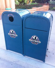 "New trash cans denoting ""Hollywood Land"" are starting to appear at Disney('s) California Adventure"