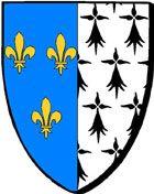 Brest : parti de France et de Bretagne * Brest : rannet etre Frañs ha Breizh Brest, France, Flags, Knight, Brittany, Coat Of Arms, Symbols, Posters, National Flag