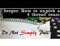 How to unpick a serger/overlocker seam - Ace! The Anatomy of The Best Serger Tension: My Tips (Bonus: Unpick it!) - Serger Pepper
