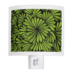 Stained Glass  Foil Flower Swirl Lime Night Light - home gifts ideas decor special unique custom individual customized individualized