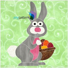 Easter Bunny Applique Quilt Pattern | Craftsy