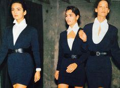 Azzedine Alaia fashion show stretch suits 1988