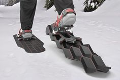 """I love seeing this kind of nuts-and-bolts industrial design. Seattle-based designer Eric Brunt observed that what makes snowshoes work is their increased surface area, which enables the wearer to """"flo"""