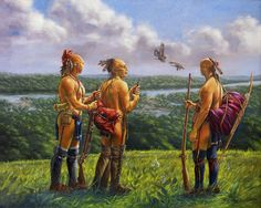shawnee-lookout by Mary Louise Holt kK Native American Images, Native American Paintings, American Indian Art, Native American Indians, Shawnee Indians, Shawnee Tribe, Indian Paintings, Native Indian, Early American