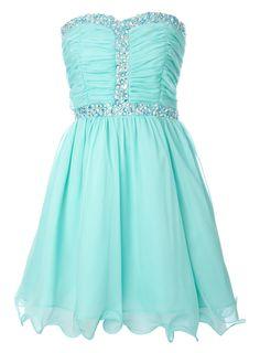 Aqua Chiffon Gem Dress - dresses - older girls (7-14+) - Children- BHS