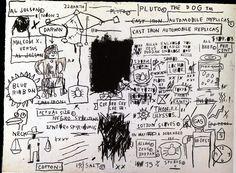 1983 J.M. Basquiat Sans Titre (The Daros Suite of Thirty-Two Drawnings) Ascent Acrylique Crayon gras pastel crayon charbon et crayon de couleur 57x76,5 cm Suisse, Daros Collection. #Graffiti #NewYork #Design @deFharo
