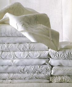 French Country Home white linens for the bed