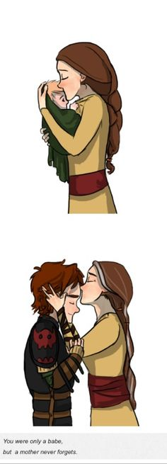 <3  (I'm not sure why baby Hiccup is blonde, though.)