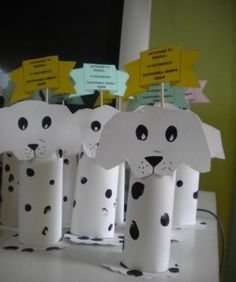 paper roll dog craft