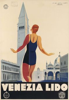 TV31 Vintage 1930/'s Italian Italy Cattolica Travel Poster Re-Print A1 A2 A3