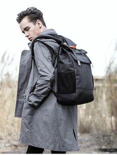All Black Backpack, Black Backpack School, Backpack For Teens, Black Leather Backpack, Fashionable Backpacks For School, Trendy Backpacks, Backpack Outfit, Laptop Backpack, Fashion Backpack