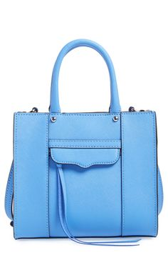Swooning over the pretty blue color of this Rebecca Minkoff crossbody bag.