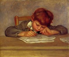 Jean Drawing,1901, oil on canvas by Pierre-Auguste Renoir