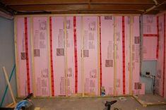 Picture of Framing - Intro - March 03 2019 at Basement Remodel Diy, Basement Plans, Basement Renovations, Home Renovation, Basement Ideas, Washing Machine Hose, Basement Insulation, Basement Studio, Metal Hose