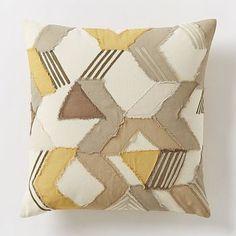 Frayed Broken Chevron Pillow Cover – Horseradish #westelm