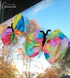 Your kids will love making these colorful Coffee Filter Butterflies! They're a perfect project in this warm spring weather!