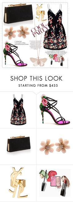 """""""Floral"""" by nativedoll ❤ liked on Polyvore featuring The 2nd Skin Co., Dolce&Gabbana, Jimmy Choo, Van Cleef & Arpels, Yves Saint Laurent and Alex Monroe"""