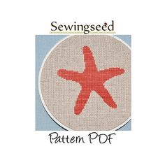 Starfish Cross Stitch Pattern INSTANT DOWNLOAD by Sewingseed, $5.00