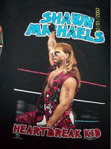 vintage wrestling tees | Vintage NEW XL HBK Shawn Michaels WWF WWE Wrestling Punk T-Shirt ...