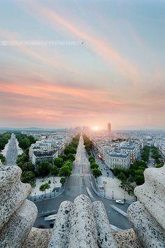View from the Arc de Triumph, Paris.