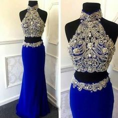Sexy Two Piece Prom/Homecoming Dresses with Sparkly Rhinestone