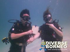 underwater photo during PADI Open Water Diver Course lesson at Sapi island