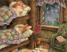 Cozy good nightey night-night. Snuggles 'n love.