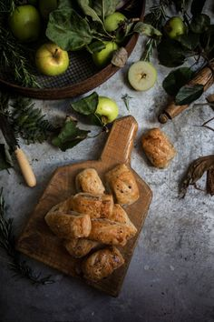 Apple Rosemary and Cider Glazed Onion Sausage Rolls | twigg studios
