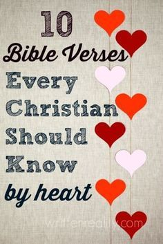 Memory Verses: 10 Bible Verses Every Christian Should Know by Heart Memory Verses: Looking for a great place to start memorizing Scripture? Here are 10 Bible Verses Every Christian Should Know by Heart Christian Living, Christian Faith, Christian Quotes, Christian Girls, Christian Devotions, Christian Encouragement, Bible Scriptures, Bible Quotes, Scripture Memorization