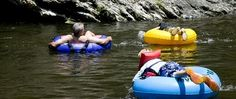 Townsend Tennessee tubing on the Little Pigeon River.