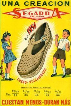 Zapatos Segarra 1951, con cuero Vulcanizado