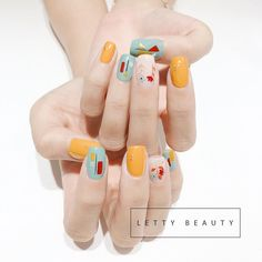 5 yellow nails to give you a different beauty in spring ~ – Fashionable life Cute Nails, Pretty Nails, Hair And Nails, My Nails, Uñas Fashion, Minimalist Nails, Luxury Nails, Yellow Nails, Flower Nails