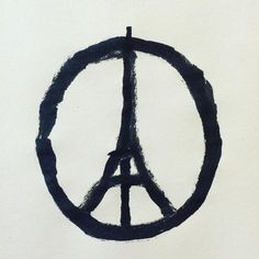 Peace for Paris by jean jullien ‏@jean_jullien  https://instagram.com/p/-CvRmhhFJP/  #Illustration #Peace_for_Paris