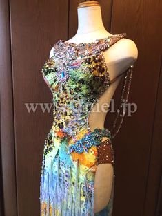 社交ダンスドレスのドレスネットアニエル / L2180・カラフル・10万円