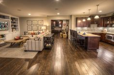 Great Finished Basement - love Floors