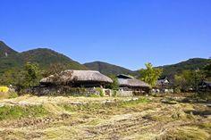 Traditional Village landscape in South Korea