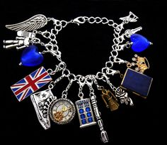 Doctor Who Charm Bracelet Silver Plated with River Song TARDIS Journal Locket #Traditional