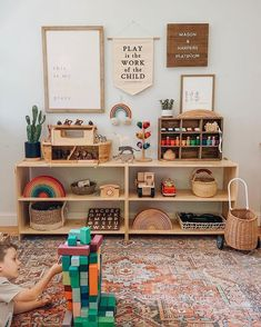 Montessori Toddler Rooms, Toddler Playroom, Montessori Bedroom, Ikea Montessori, Toddler Toys, Playroom Design, Playroom Decor, Toy Rooms, Kid Spaces