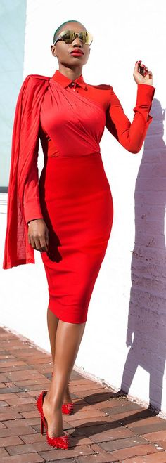 Everything Red Chic Style                                                                             Source
