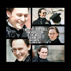 Whoever shall marry him will be the luckiest girl on earth. Tom Hiddleston isn't handsome because of his looks but his beautiful kind personality. Thomas William Hiddleston, Tom Hiddleston Loki, Thomas Sharpe, Crimson Peak, British Men, Dream Guy, Chris Hemsworth, I Love Him, Celebrity Crush