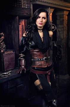 Character: Yennefer of Vengerberg / From: Andrzej Sapkowski's 'The Witcher' Short Stories and Novels & CD Projekt RED's 'The Witcher' Video Game Series / Cosplayer: Maria Khanna (aka Maria Hanna Cosplay, aka Hannuki) The Witcher 3, Witcher Art, Witcher 3 Wild Hunt, Witcher 3 Yennefer, Yennefer Cosplay, Yennefer Of Vengerberg, Chat Steampunk, Style Steampunk, Steampunk Fashion