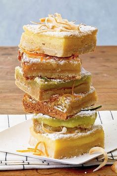 In this tropical version of classic lemon squares, fresh key lime juice is used in place of lemon juice. Dessert Dishes, Dessert Bars, Dessert Recipes, Make Ahead Desserts, Summer Desserts, Easter Desserts, Lemon Desserts, Delicious Desserts, Fun Cooking