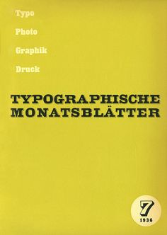 TM Typographische Monatsblätter, issue 7, 1936